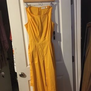 New York and Company Yellow Jumpsuit new with tags